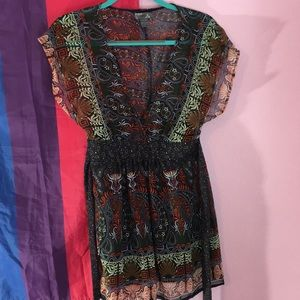 Poetry sheer patterned tunic S